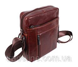 Мужская кожаная сумка Dovhani BR9195195 Коричневая, фото 2