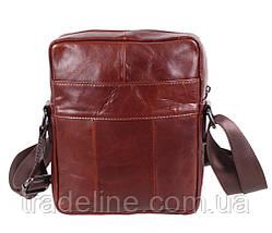 Мужская кожаная сумка Dovhani BR9195195 Коричневая, фото 3