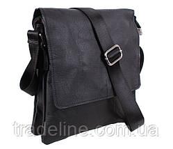 Мужская кожаная сумка Dovhani MESS8138-13 Черный, фото 3
