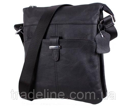 Чоловіча шкіряна сумка Dovhani MESS81399 Чорний 27х21,5х7см, фото 2