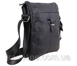 Чоловіча шкіряна сумка Dovhani MESS81399 Чорний 27х21,5х7см, фото 3