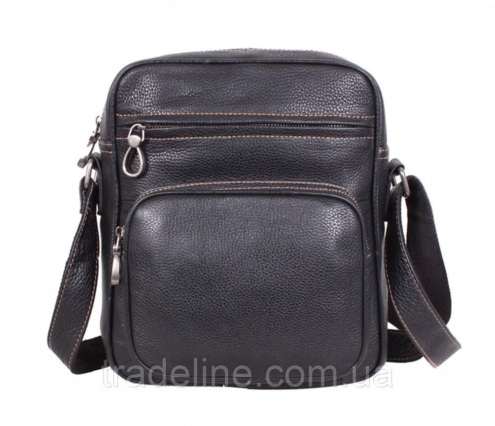 Мужская кожаная сумка Dovhani LA3225-113 Черный