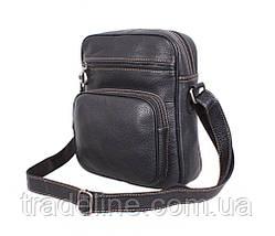 Мужская кожаная сумка Dovhani LA3225-113 Черный, фото 2