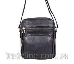 Мужская кожаная сумка Dovhani LA3225-113 Черный, фото 3