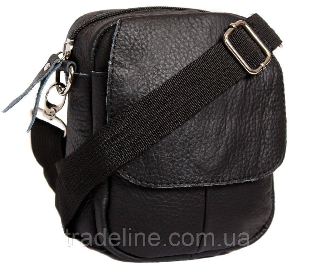 Мужская кожаная сумка Dovhani BL30015653 Черная