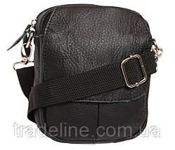 Мужская кожаная сумка Dovhani BL30015653 Черная, фото 2