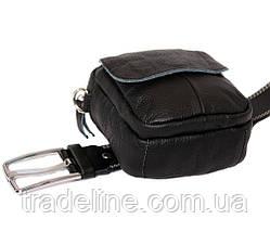 Мужская кожаная сумка Dovhani BL30015653 Черная, фото 3