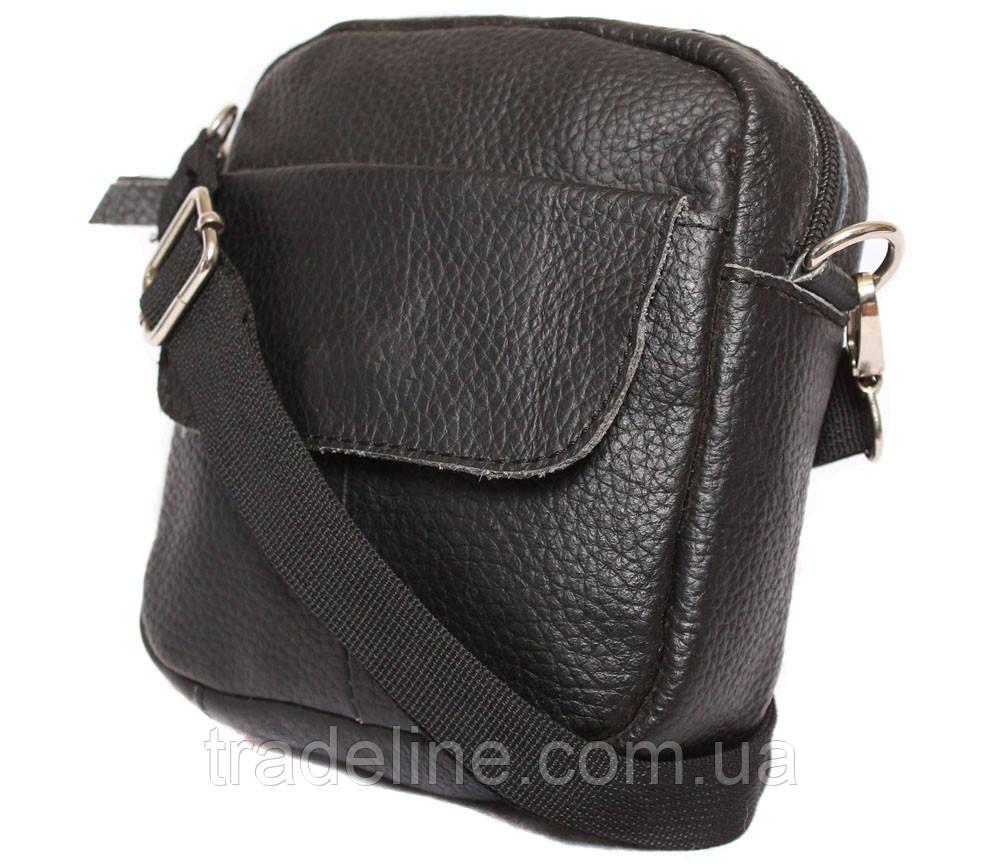 Мужская кожаная сумка Dovhani BL30015754 Черная