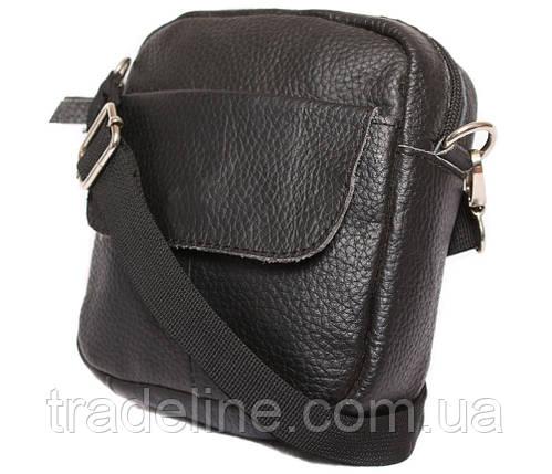 Мужская кожаная сумка Dovhani BL30015754 Черная, фото 2