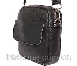 Мужская кожаная сумка Dovhani BL30015754 Черная, фото 3