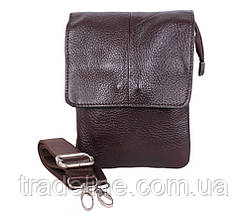 Мужская кожаная сумка Dovhani MESS8136-2CF70 Коричневая, фото 2
