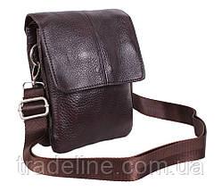 Мужская кожаная сумка Dovhani MESS8136-2CF70 Коричневая, фото 3