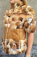 Женский жилет из меха лисы., фото 1