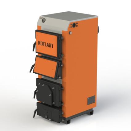 Твердотопливный котел с горизонтальным расположением каналов газохода KOTLANT серии КГУ - 30 кВт (КОТЛАНТ)