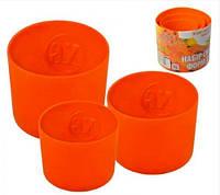 Набор силиконовых форм для пасок Украина 3 шт Оранжевый 0022, КОД: 1636320