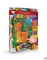 Набор для творчества Dankotoys Блестящая мозаика Динозаврик БМ-02-01, КОД: 1658336