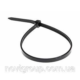 Стяжки нейлон RITAR 5,0x350mm чорні (100 шт) висока якість, діапазон робочих температур: від -45С до + 80С Q65