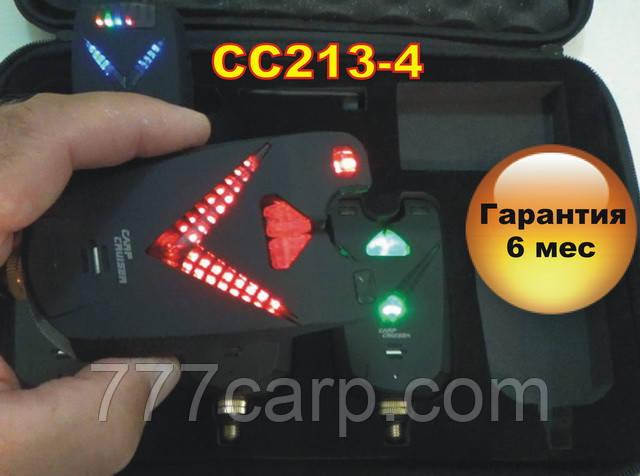 FA213-4 Уценка!!! набор электронных беспроводных сигнализаторов поклевки с радио пейджером