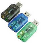 Контролер USB-sound card (5.1) 3D sound (Windows 7 ready), OEM