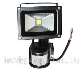 Прожектор LED c датчиком руху RJ-G-10W, IP66, 6400K (100%)