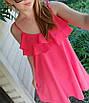 Легкий летний сарафан на бретелях с воланом свободного покроя, софт, 42-44, 46-48, фото 5