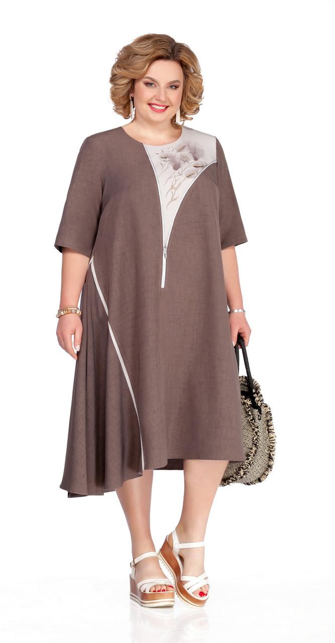 Платье Pretty-1054/1 белорусский трикотаж, мокко, 56