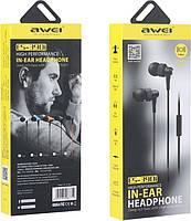 Наушники Awei ES-390i вакуумные (Черный)