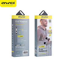 Наушники Awei ES-660i вакуумные (Черный)