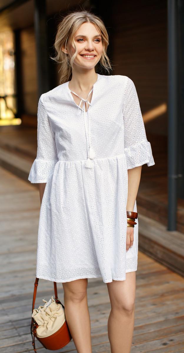 Платье LIBERTY-8106 белорусский трикотаж, молочный, 50