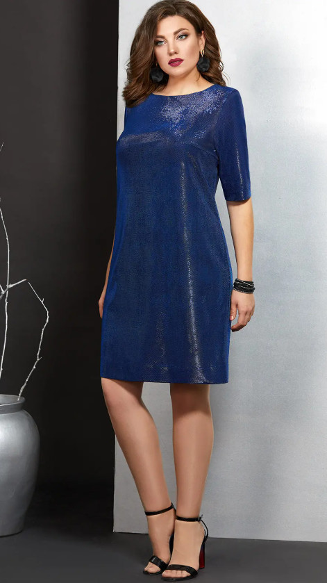 Платье Мублиз-406/2 белорусский трикотаж, василек, 46