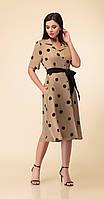 Платье Дали-4353 белорусский трикотаж, кофейные тона, 46, фото 1