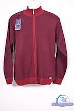 Кофта мужская вязаная  (цв.бордовый) Stendo VS6817-1 Размер:52,54,56