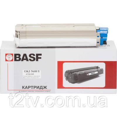 Тонер-картридж BASF OKI C5600/5700 Yellow 43381905 (KT-C5600Y-43381905)