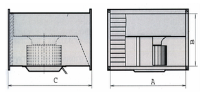 Прямоугольный канальный вентилятор для прямоугольных каналов ВКП 600x300, фото 2