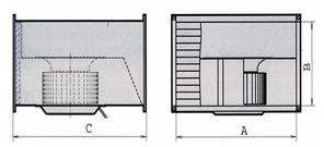 Прямоугольный канальный вентилятор для прямоугольных каналов ВКП 600x350, фото 2