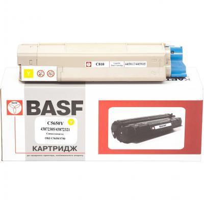 Тонер-картридж BASF OKI C5650/5750 Yellow 43872305/43872321 (KT-C5650Y)