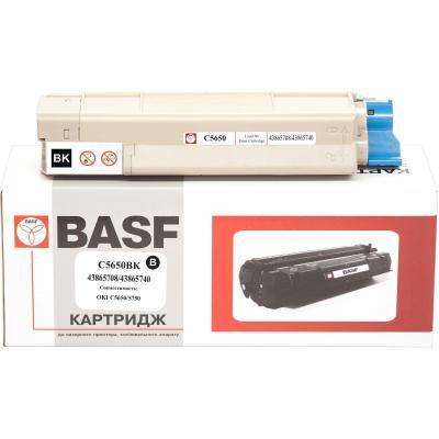 Тонер-картридж BASF OKI C5650/5750 Black 43865740/43865740 (KT-C5650K)