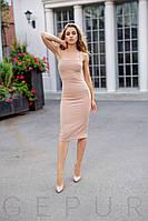 Стильное платье на бретелях XS,S,M,L