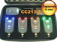 Набір сигналізаторів покльовки Carpcruiser CC213-4 УЦІНКА !!! з радіо пейджером, анти злодій, фото 1