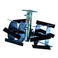 Насадка культиватор тяпка косая для мотокосы (вал 9 шлицов на 26 мм)