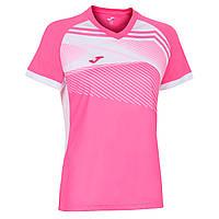 Футболка для тенісу Joma SUPERNOVA II рожево-біла 901066.030