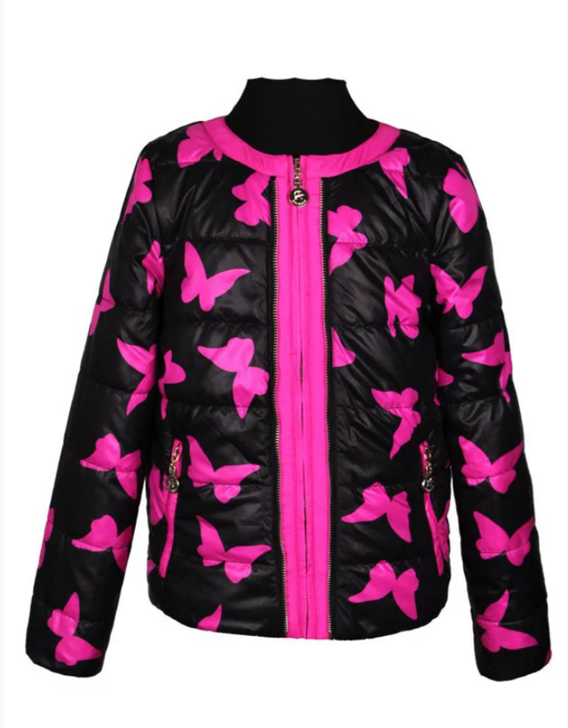 Шикарная яркая короткая куртка  для девочки