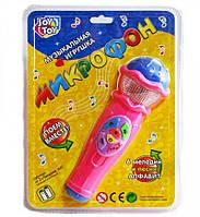 Микрофон, 6 мелодий, песня, алфавит, 3 вида, на бат-ке, в слюде + код MMT-JT-7043