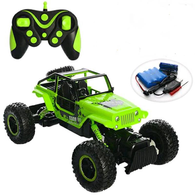 Позашляховик з великими колесами на радіокеруванні Diancheng Toys Rock Crawler 0136 зелений