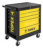 Тележка для инструмента TOPEX, 5 ящиков, 680x460x825 мм, до 280 кг, стальной корпус (79R501)