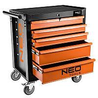 """Шкаф-тележка инструментальный NEO, 5 выдвижных ящиков, 680?460?825мм, колеса 5"""", до 280 кг (84-224)"""