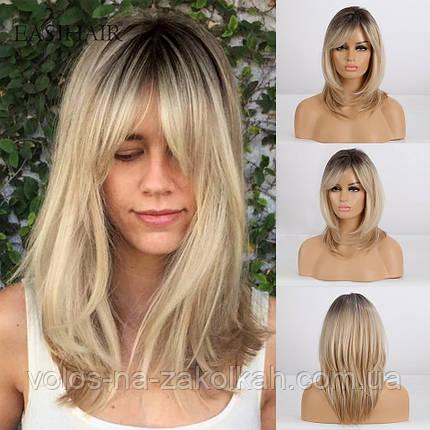 Перуку блондинки перуку блондинки по плечі, фото 2