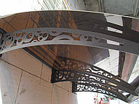 Металевий збірний дашок Dash'Ok Стиль 2,05м*1,5м з монолітним полікарбонатом 3мм, фото 1