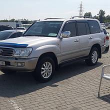 Дефлекторы окон (ветровики) Toyota Land Cruiser 100 / LX470 Euro 1998-> 4D 4шт (HIC)