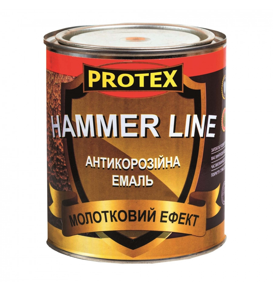 Молоткова емаль Hammer Line темно-коричн. (1,95 л)2кг